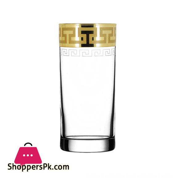 "Promsiz Cocktail Glasses 6 Piece With ""Ultra"" Greek Pattern (EAV03-402 / S)"