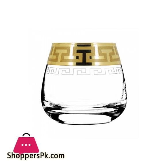 Promsiz Whiskey Glasses 6 Piece With Greek Pattern (EAV03-2070 / S)