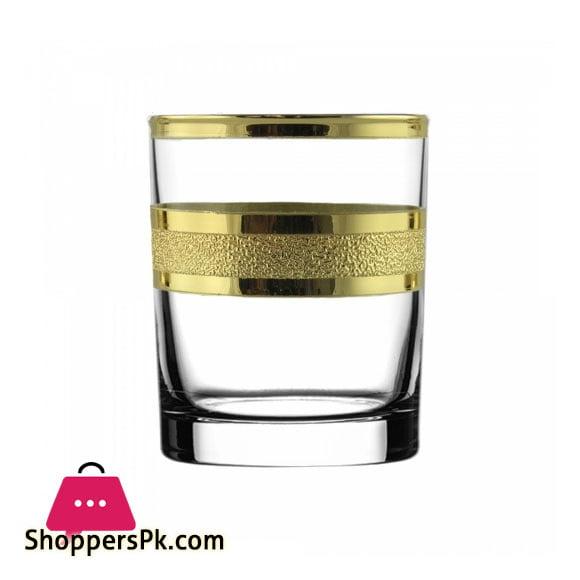 "Promsiz Whiskey Glasses 6 Piece With ""Ultra"" Pattern KAV24-405 / S"