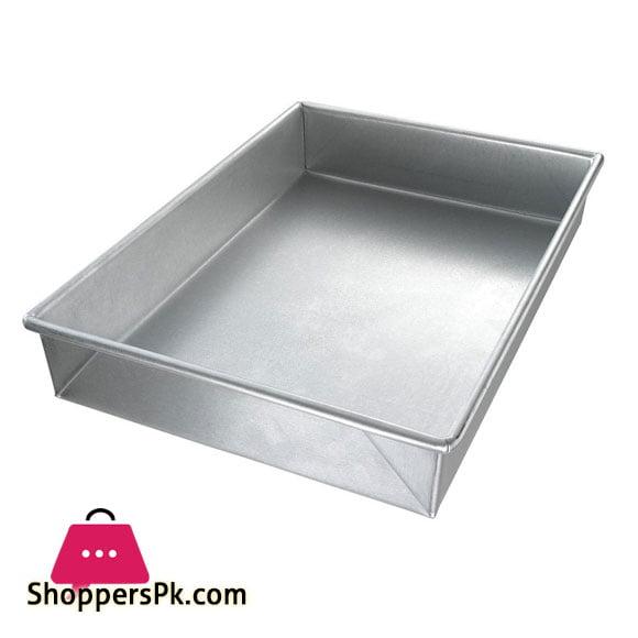 Rectangular Silver Cake Pan 12x17 Inch
