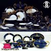 Roberto Cavalli Luxury Dinner Set with Embossed Gold 6 Person Serving 68 Pcs