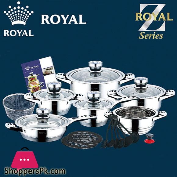 Royal Stainless Steel Hot Pot Casserole Set Kitchen Cookware Set 23 Pcs