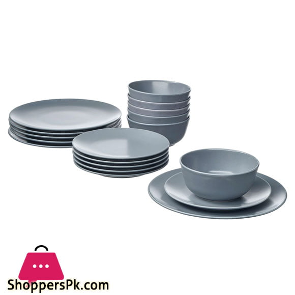Shoppers Superior Quality 18 Pc Dinner Set - Grey
