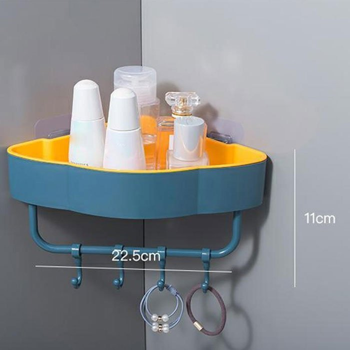 Shower Caddy Shelf Bathroom Wall Basket Rack Storage Corner Holder Organizer