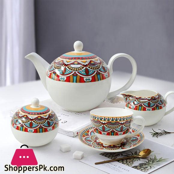 Solecasa 24 Pcs Tea Set - Ceramic Ware - Royal Crown