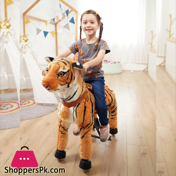 Tiger Pony Ride Ride On Rocking Cycle Tiger Giddy Up Cowboy -X- Large over 5 Years
