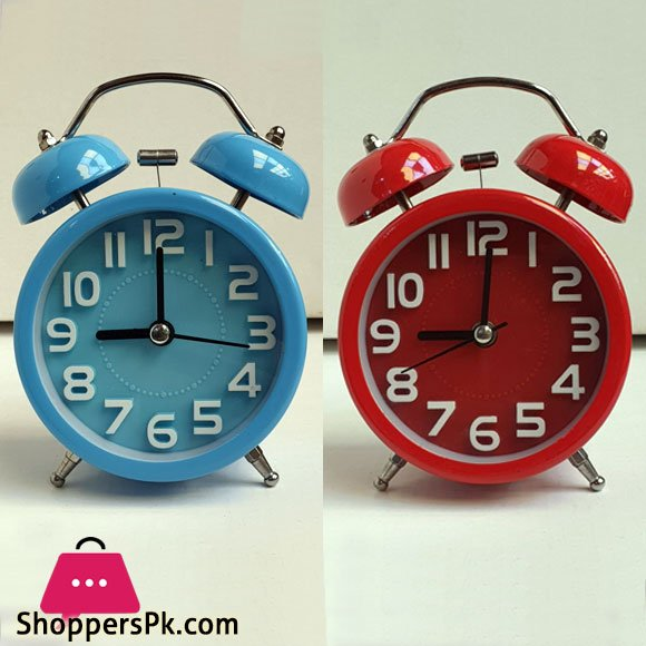Twin Bell Vintage Alarm Clocks Desk Table Clock for Home & office