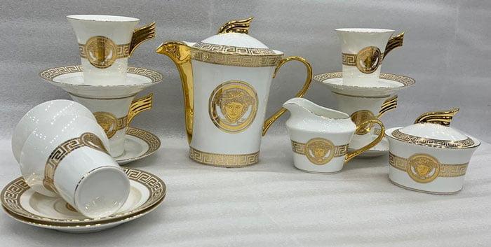 Versace 15 Pieces Tea Set Bone China Cups and Saucers