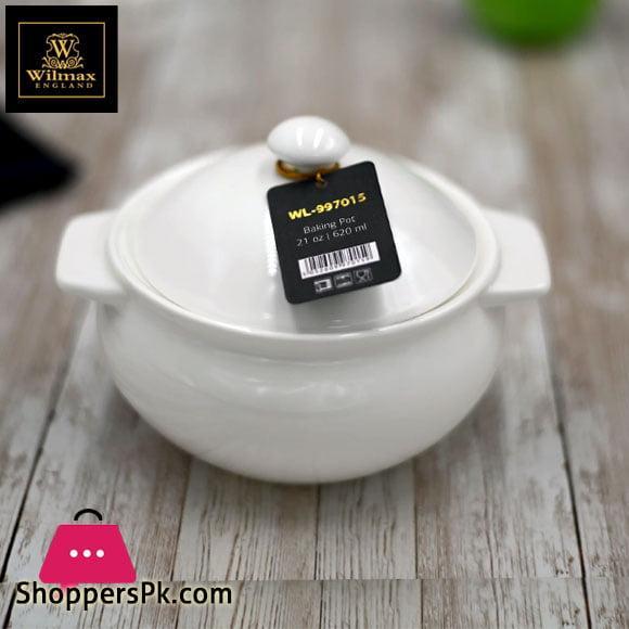Wilmax Fine Porcelain Baking Pot 21 Oz | 620 Ml WL-997015/A