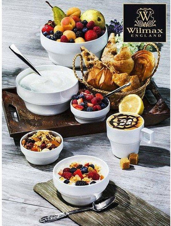 Wilmax Fine Porcelain Bowl 7 Inch - 1400Ml WL-992557 / A