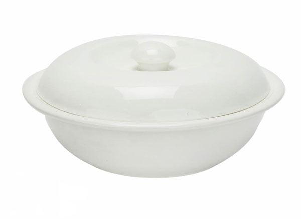 Wilmax Fine Porcelain Bowl with lid 23.5 Cm 1400 ML