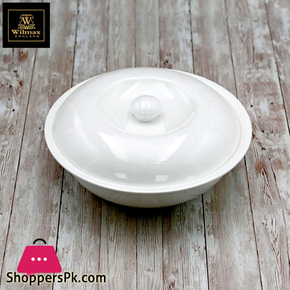 Wilmax Fine Porcelain Bowl with lid 26 Cm 1700 ML
