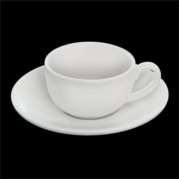 Wilmax Fine Porcelain Coffee Cup & Saucer 3 Oz | 100 Ml WL-993002AB