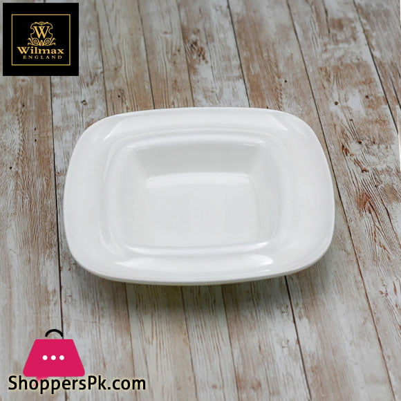 Wilmax Fine Porcelain Deep Plate 8.5 x 8.5 Inch - WL-991021 / A