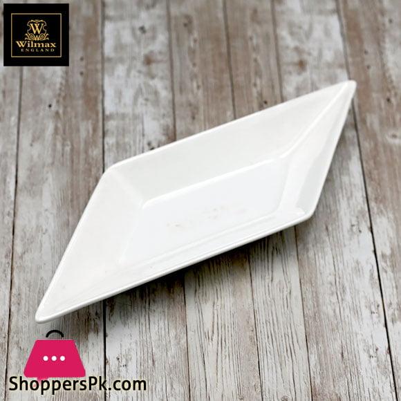 Wilmax Fine Porcelain Diamond Dish 12 Inch WL-992408 / A