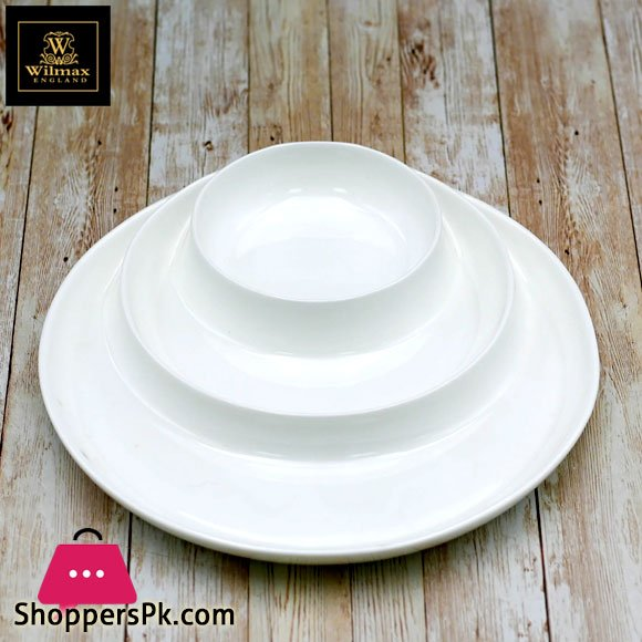 Wilmax Fine Porcelain Divided Dish 10 Inch WL-992691 / A