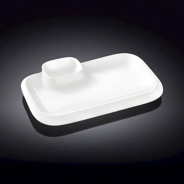 Wilmax Fine Porcelain Rectangular Platter 14 x 8.5 Inch WL-992575 / A