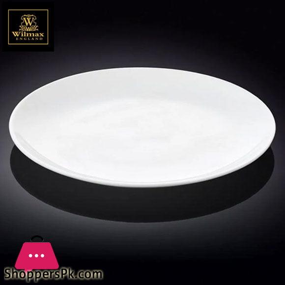 Wilmax Fine Porcelain Rolled Rim Round Platter 12 Inch WL-991024 / A