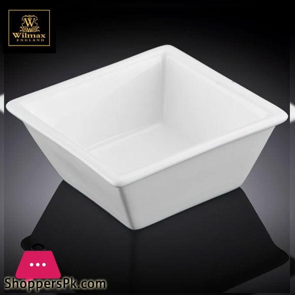Wilmax Fine Porcelain Square Dish 4.25 x 4.25 Inch WL-992387 / A