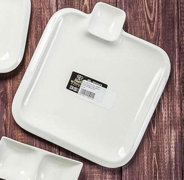 Wilmax Fine Porcelain Square Platter 8 x 8 Inch WL-992653 / A