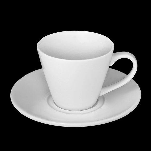 Wilmax Fine Porcelain Tea Cup & Saucer 6 Oz | 180 Ml WL-993004AB
