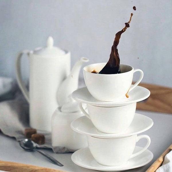 Wilmax Fine Porcelain Tea Cup & Saucer 8 Oz | 250 Ml WL-993000AB
