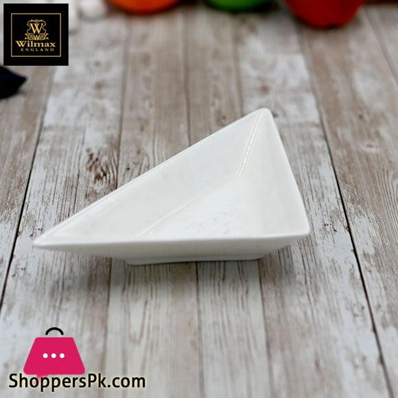 Wilmax Fine Porcelain Triangular Dish 7.5 WL-992406 / A