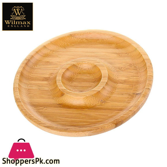 Wilmax Natural Bamboo 2 Section Platter 8 Inch WL-771046 / A
