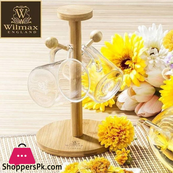 Wilmax Natural Bamboo Mug Stand 8.25 X 5 Inch WL-771014 / A