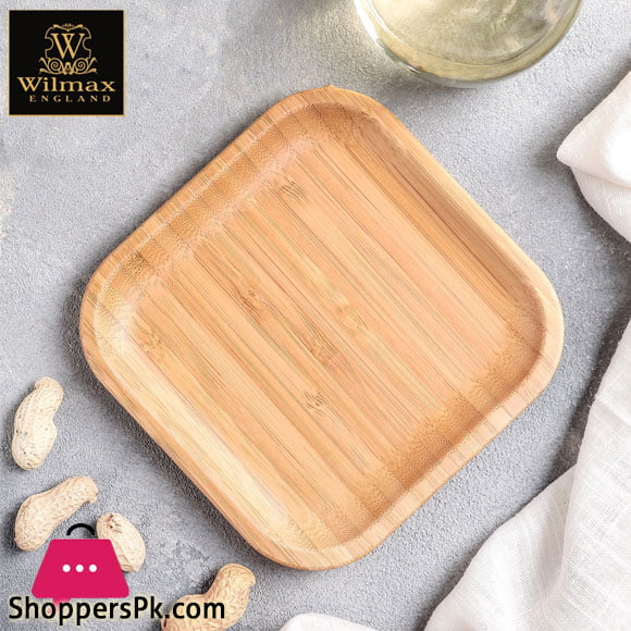 Wilmax Natural Bamboo Plate 4 x 4 Inch - WL-771017 / A