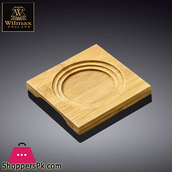 Wilmax Natural Bamboo Tray 4 X 4 Inch WL-771010 / A