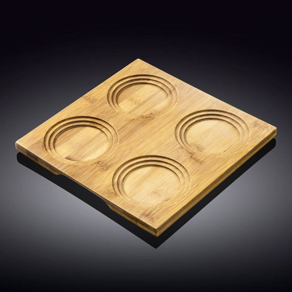 Wilmax Natural Bamboo Tray 7.75 X 7.75 Inch WL-771013 / A