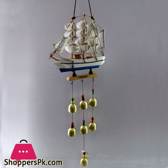 Wind Chimes Melody Wind Bell Decorative Garden Wind Chime Outdoor (Sailboat)