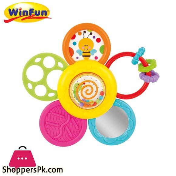 Winfun Daisy Spin Rattle 'N Teether - 0776