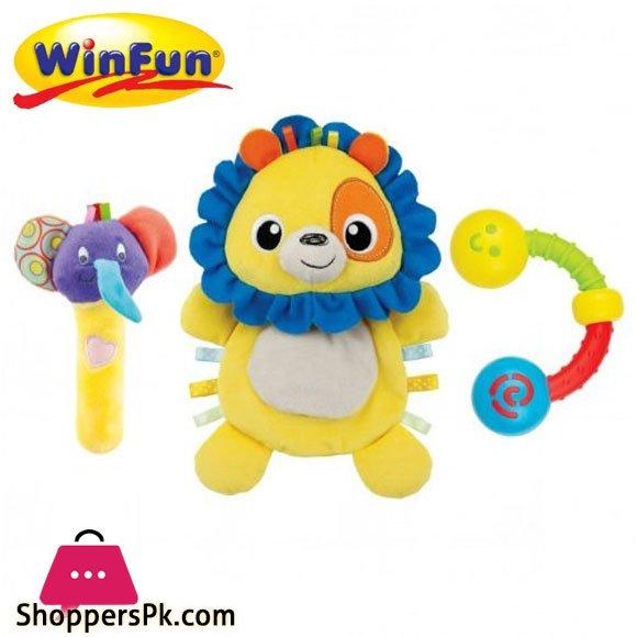 Winfun Lion Comforter Rattle Set - 3028
