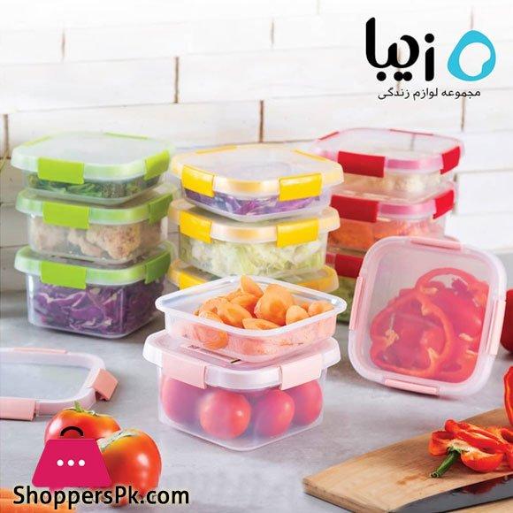 Ziba Sazan Gapana Square Freezer Containers 1000 -ML Iran Made