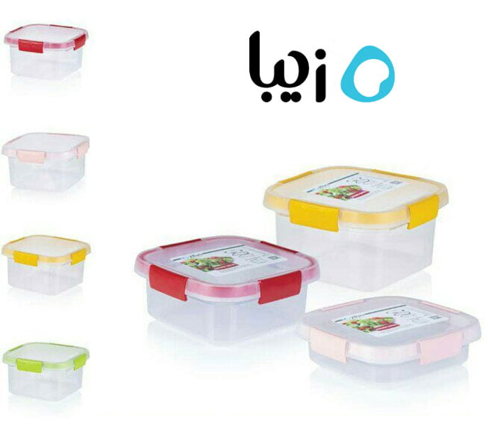 Ziba Sazan Gapana Square Freezer Containers 750-ML Iran Made