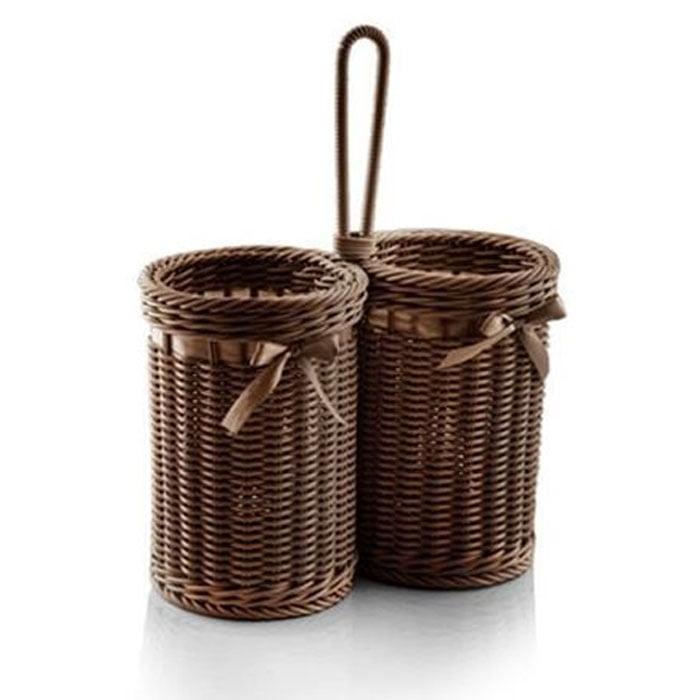 Zibasazan the Wicker Basket Cutlery Holder Iran Made