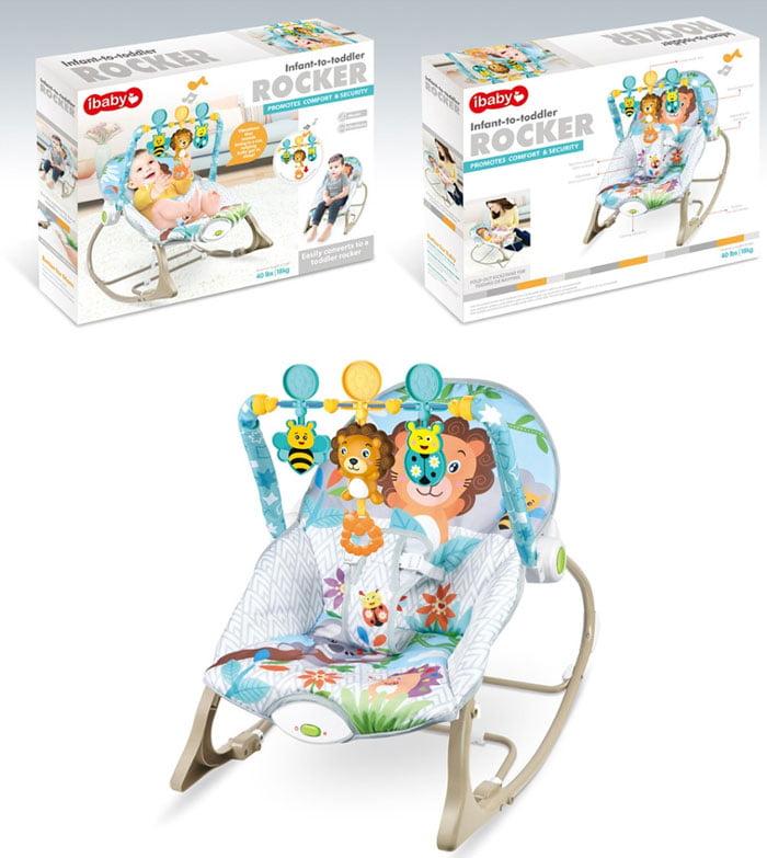 iBaby Infant-Toddler Rocker/Bouncer - Lion