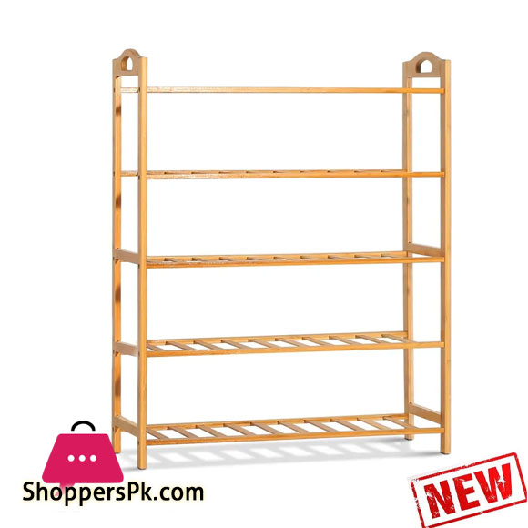 5 Layer Bamboo Wooden Shoe Rack Stand Storage Shelf Unit