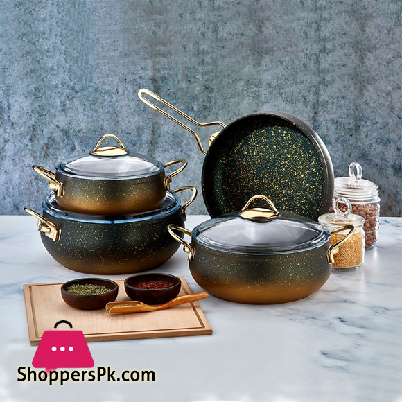Alya Granite Casserole 7 Piece Cookware Set S-7004 Turkey Made