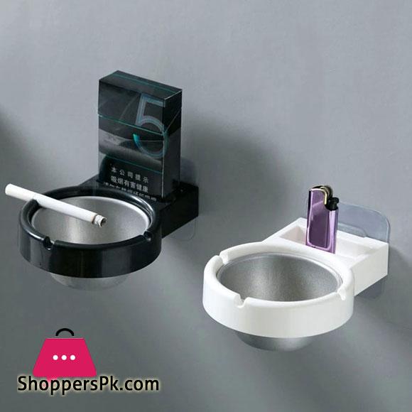 Ashtray, Bathroom Storage,Wall Mounted Stainless Steel Ashtray Bathroom Cigarette Holder Storage Rack
