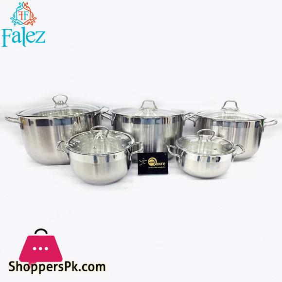 Falez Senso 10 Piece Stainless Steel Cookware Set Turkey
