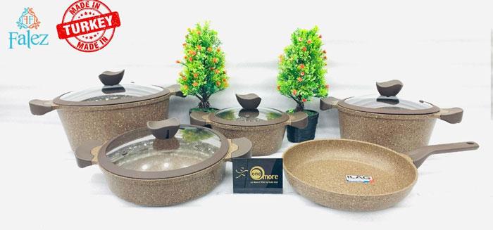 Falez Ultima Granetic 9 Piece Cookware Set Turkey