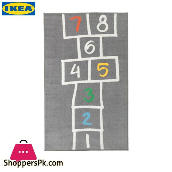 Ikea HEMMAHOS Rug - Grey 100x160 Cm