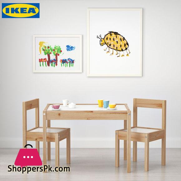Ikea LATT Children's Table and 2 Chairs