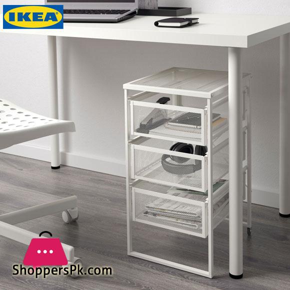 Ikea LENNART Steel Drawer Unit White