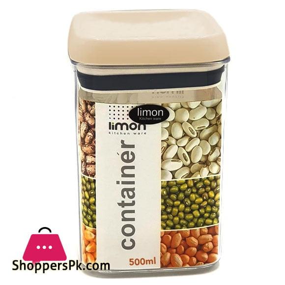 Limon Acrylic Airtight Jar 500 ML Iran Made - 1 Pcs