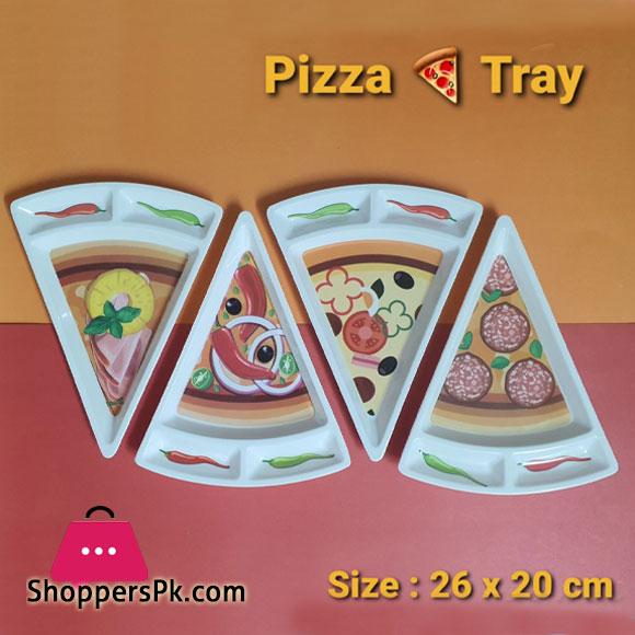 Plastic Pizza Slice Tray 26 x 20 CM