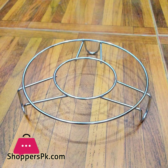 Stainless Steel Round Pan Stand Kettle Stand Tea Pot Stand Plant Pot Stand Cooker Stand